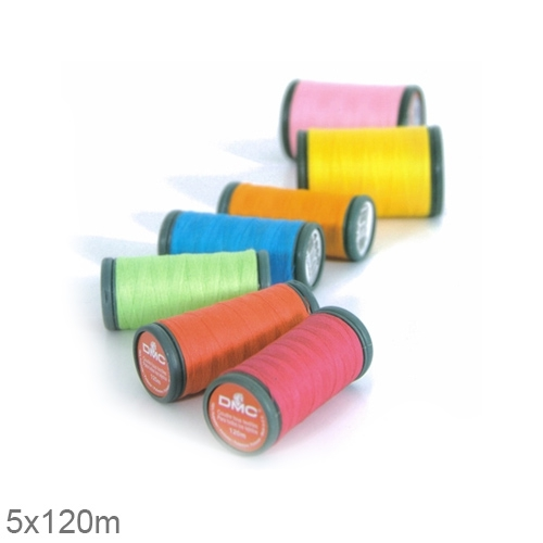 fil a coudre synthetique 100 polyester dmc 5 bobines de 120m