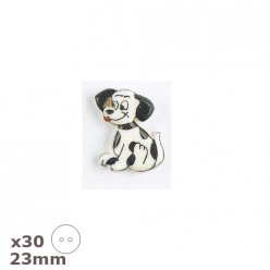 30 boutons dalmatien 23mm dill