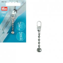 tirette fashion zipper chaine boule metal