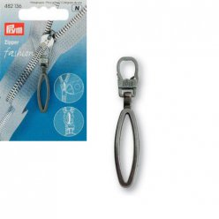 tirette fashion zipper loop metal