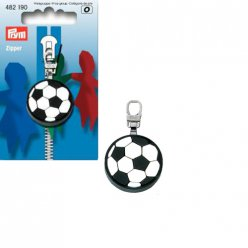 tirette fashion zipper football metal
