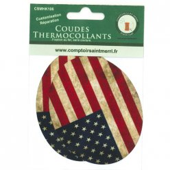 coudes thermocollants fantaisies drapeau usa