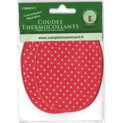 coudes thermocollants rouge pois blanc