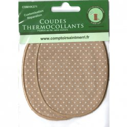 coudes thermocollants marronpois blanc