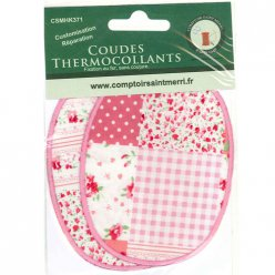 coudes thermocollants patchwork rose