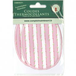 coudes thermocollants rayure rose