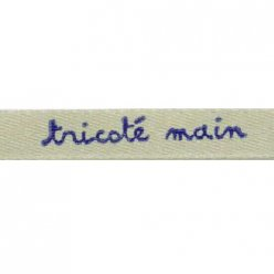 ruban satin 8mm texte tricote main