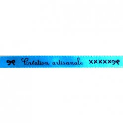 ruban satin 8mm texte creation artisanale