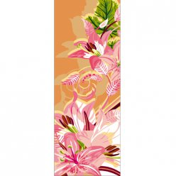 canevas antique art floral  30x65cm