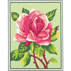 kit canevas blanc rose 20x25cm