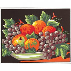 kit canevas blanc nature morte 20x25cm