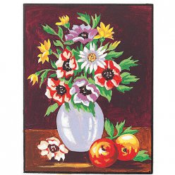 kit canevas blanc le bouquet 20x25cm
