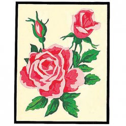 kit canevas rose rose 20x25cm