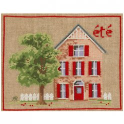 kit broderie traditionnelle maison d ete