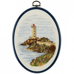 kit de broderie point de croix  le phare