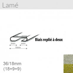 biais lame 18mm unis replie a 2  20m