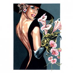 canevas antique my fair lady  45x60cm