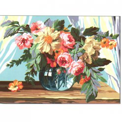 canevas antique bouquet  45x60cm