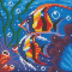 diamond painting 15x15  fonds marins