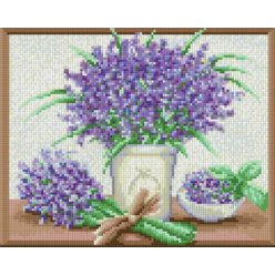 diamond painting 24x30  bouquet de lavande