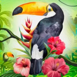 diamond painting 20x20  toucan