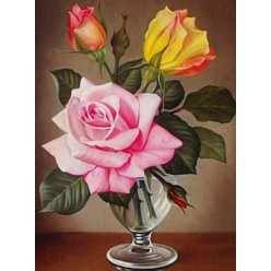 diamond painting 40x30  bouquet de roses