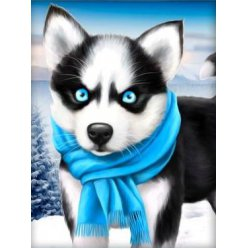 diamond painting 15x20  husky frileux