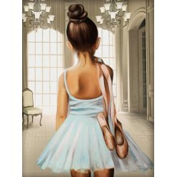 diamond painting 40x30  ballerine