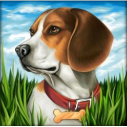 diamond painting 25x25  beagle