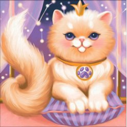diamond painting 25x25  princesse chaton
