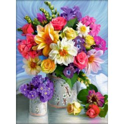 diamond painting 30x40  bouquet printanier