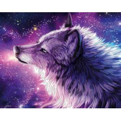 diamond painting 50x40  esprit du loup