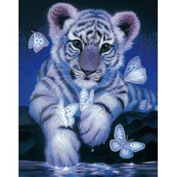 diamond painting 50x40  tigre