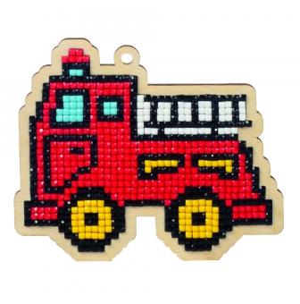 Kit Broderie Diamant Enfant Sur Bois Camion De Pompier