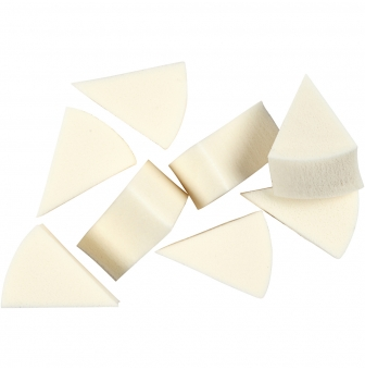 eponges blanches triangulaires 8 pieces