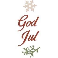 gabarit de coupe sizzix god jul