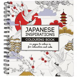 livre de coloriage anti  stress japanese inspirations 64p