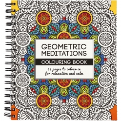 livre de coloriage anti  stress geometric meditations 64p