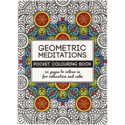 livre de coloriage anti  stress geometric meditations 20p