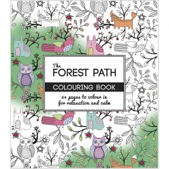 livre de coloriage anti  stress the forest path