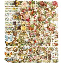 feuilles de papier decoupage vintage lot de 30 pieces
