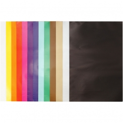 papier brillant colore 24x32 assortiment 50 feuilles
