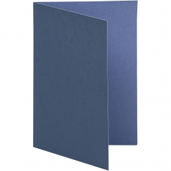 carte pliee 105x15 cm 10 pieces bicolore bleu
