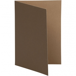 carte pliee 105x15 cm 10 pieces bicolore marron