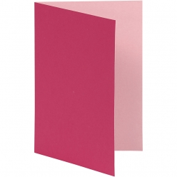 carte pliee 105x15 cm 10 pieces bicolore rose