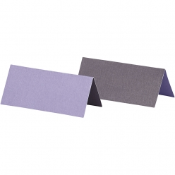 carte marque place 9x4 cm bicolore lilas 25 pieces