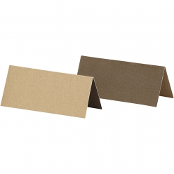 carte marque place 9x4 cm bicolore marron 25 pieces