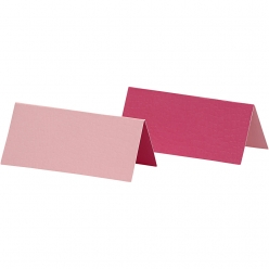 carte marque place 9x4 cm bicolore rose 25 pieces