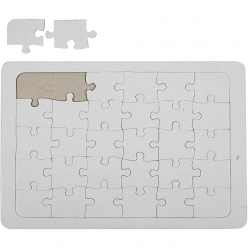 puzzles a decorer en carton blanc a4 10 pieces