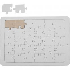 puzzles a decorer en carton blanc a5 10 pieces